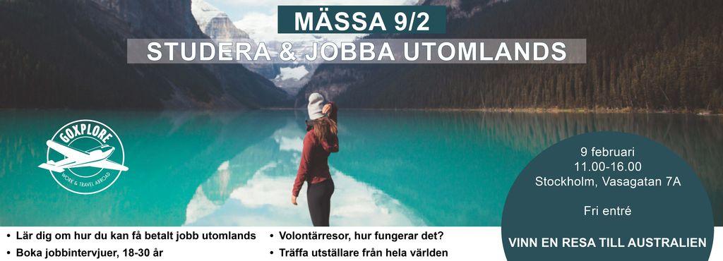 Mässa 9/2 - Studera & Jobba utomlands